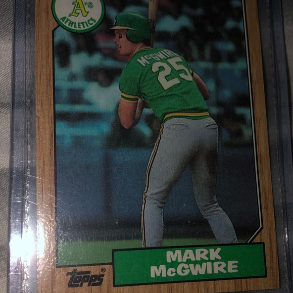 Mark McGuire Topps Rookie Card Ultra rare Mint 10